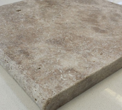 Dark Wallnut Travertine Bullnose Capping