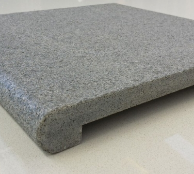 Padang Dark Exfoliated Bullnose Capping