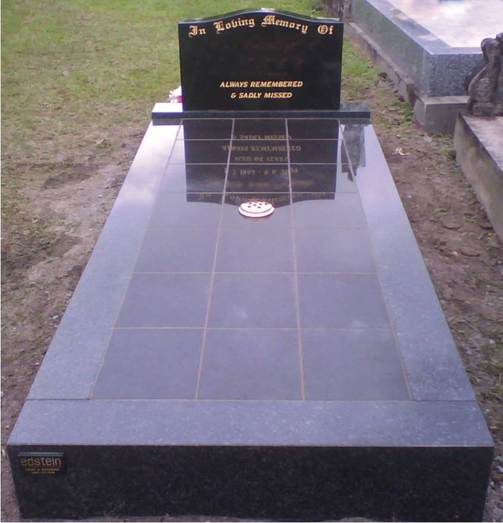 SG05 Blue Pearl - Shanxi Black Headstone