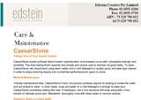 Edstein Customer Care & Maintenance CaesarStone