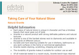 Edstein Customer Care & Maintenance Natural Granite