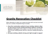 Edstein Granite Renovation Checklist
